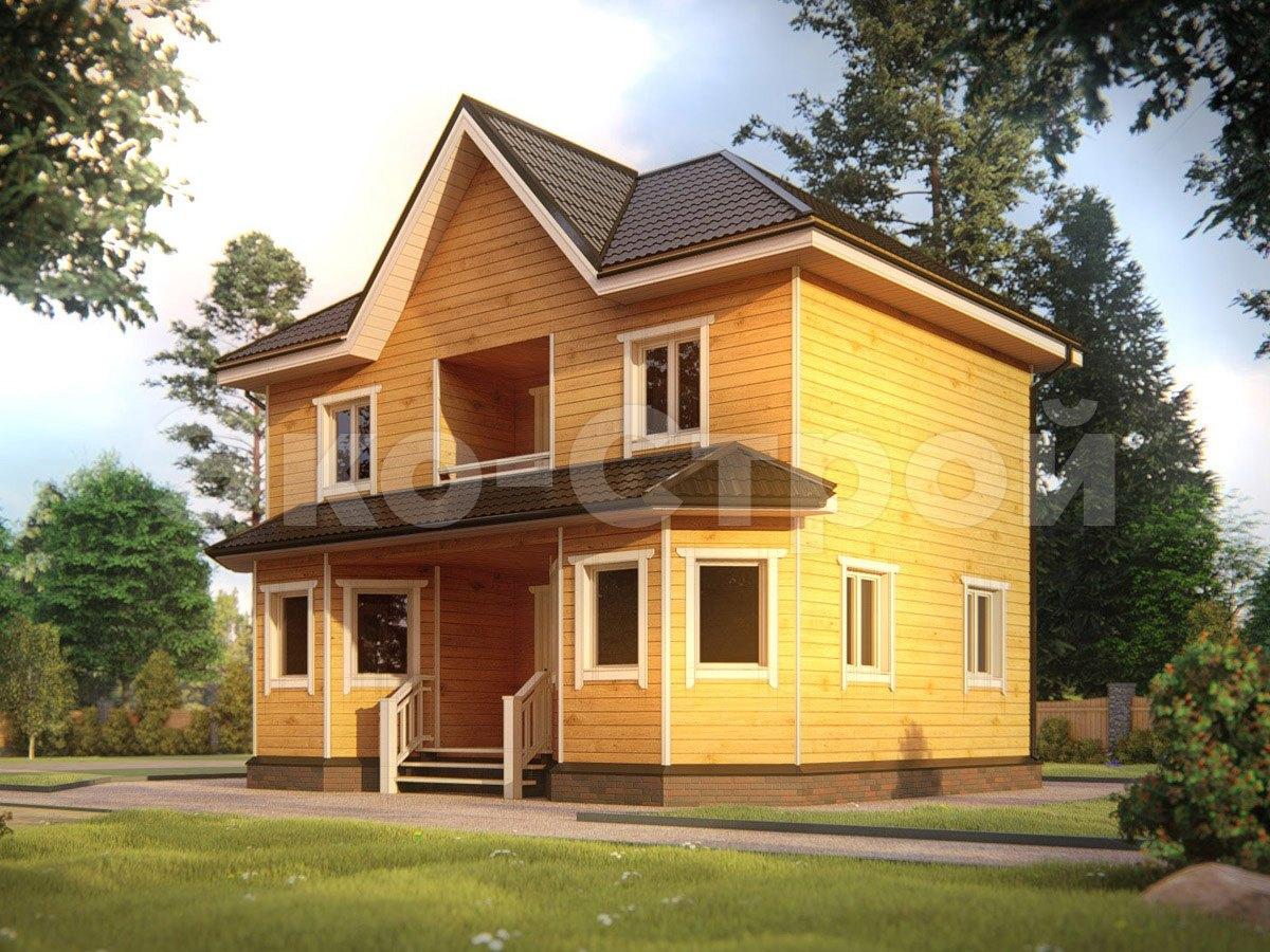 Дом из бруса ДУ 032