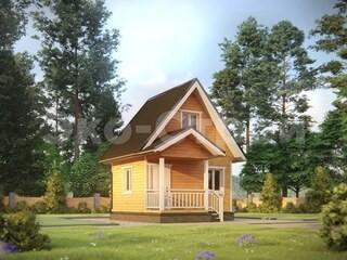Дом из бруса ДУ 036