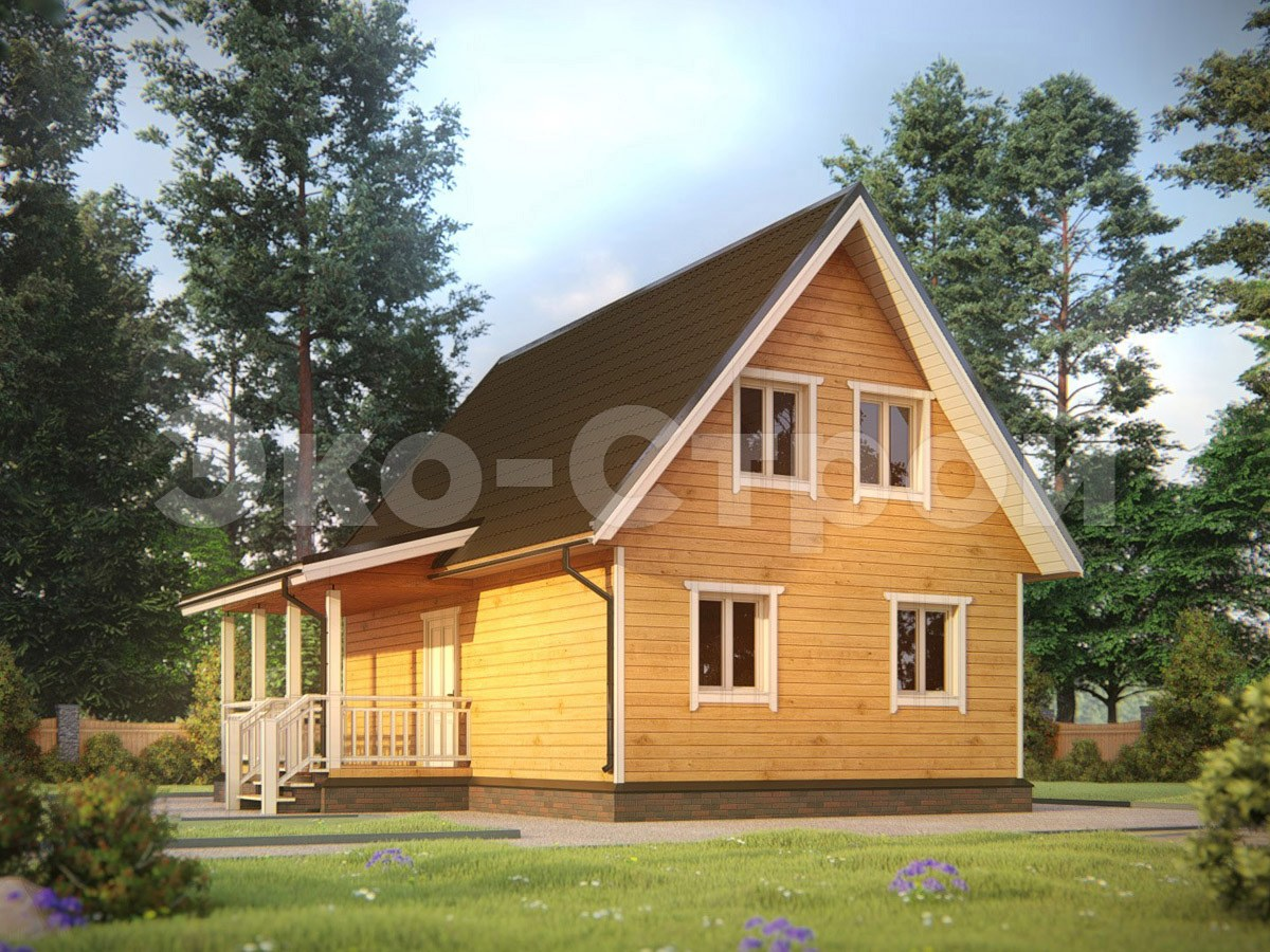 Дом из бруса ДУ 038