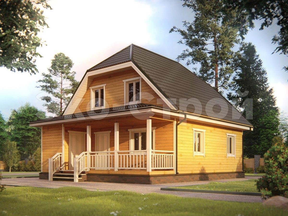 Дом из бруса ДУ 040