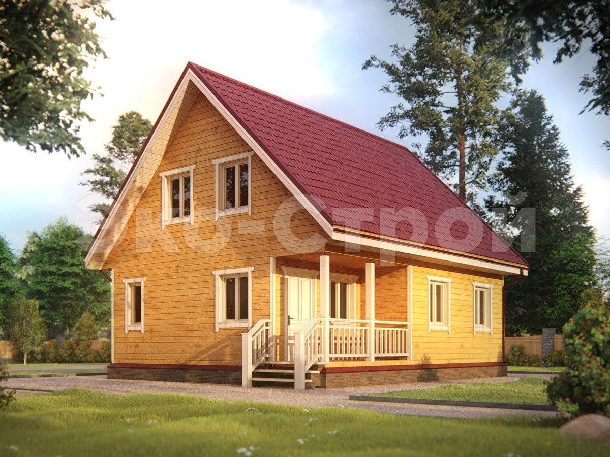 Дом из бруса ДУ 041