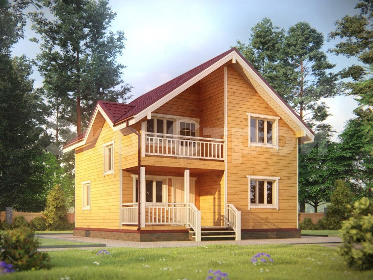 Дом из бруса ДУ 045