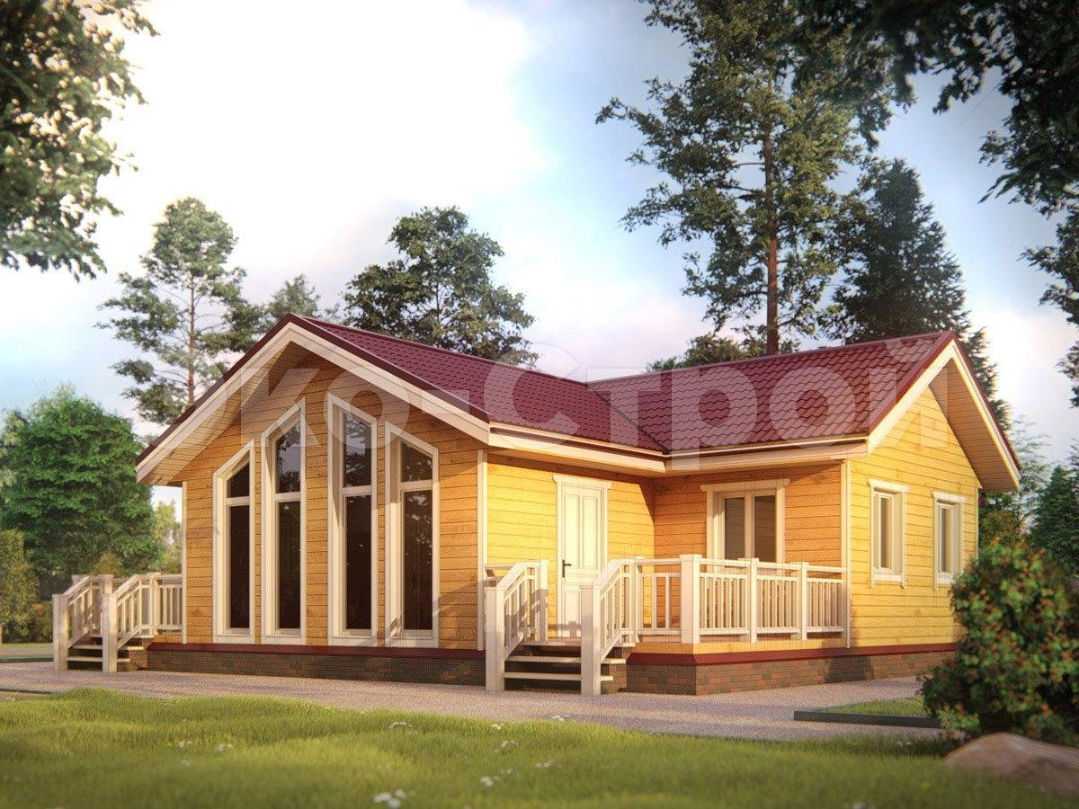 Дом из бруса ДУ 046