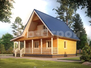 Дом из бруса ДУ 053