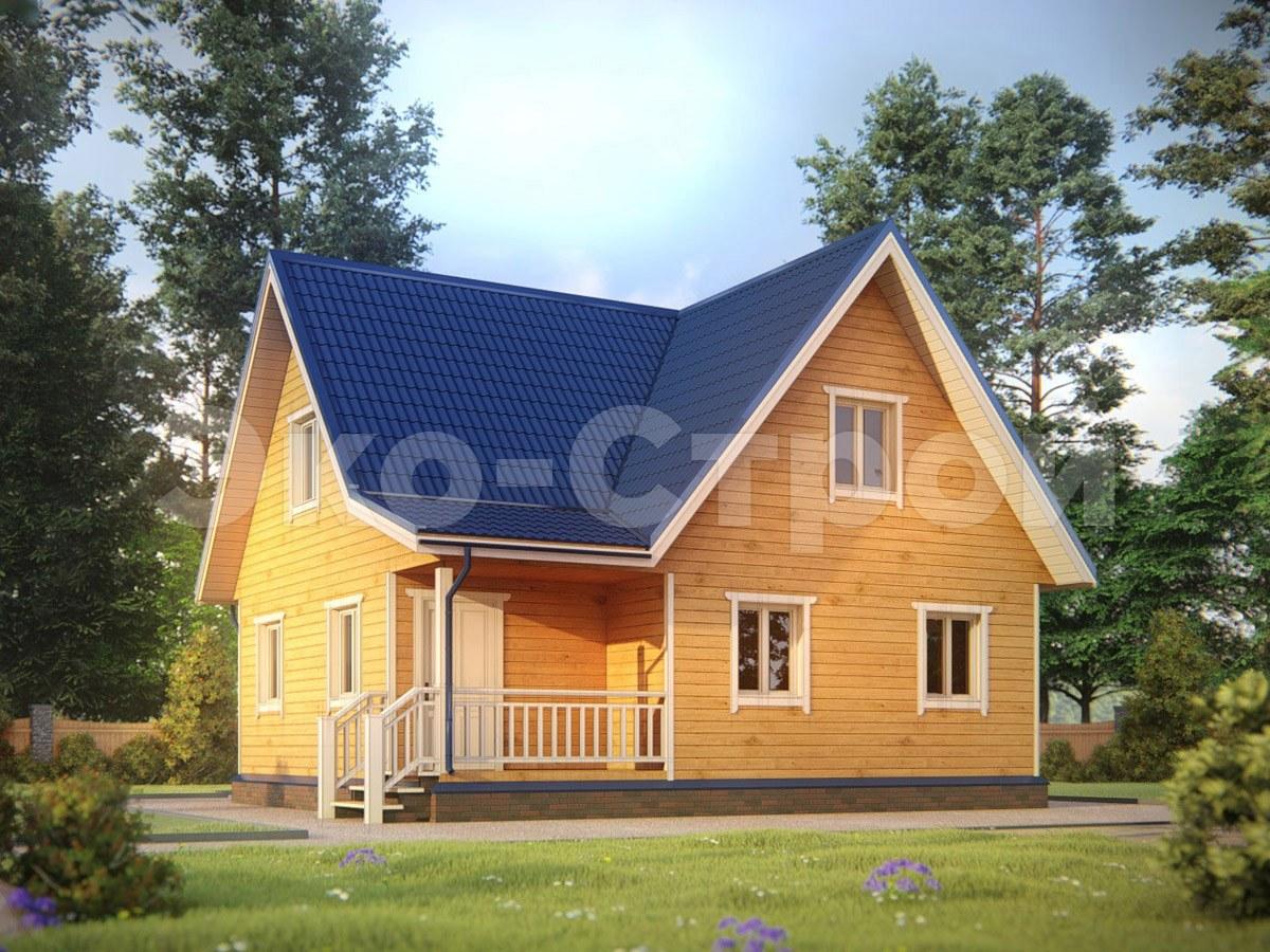Дом из бруса ДУ 054