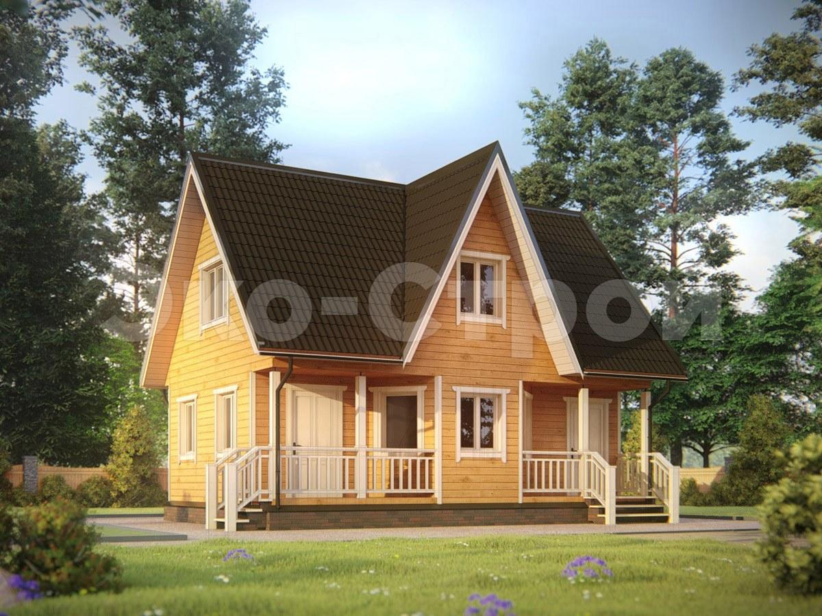 Дом из бруса ДУ 061 под ключ