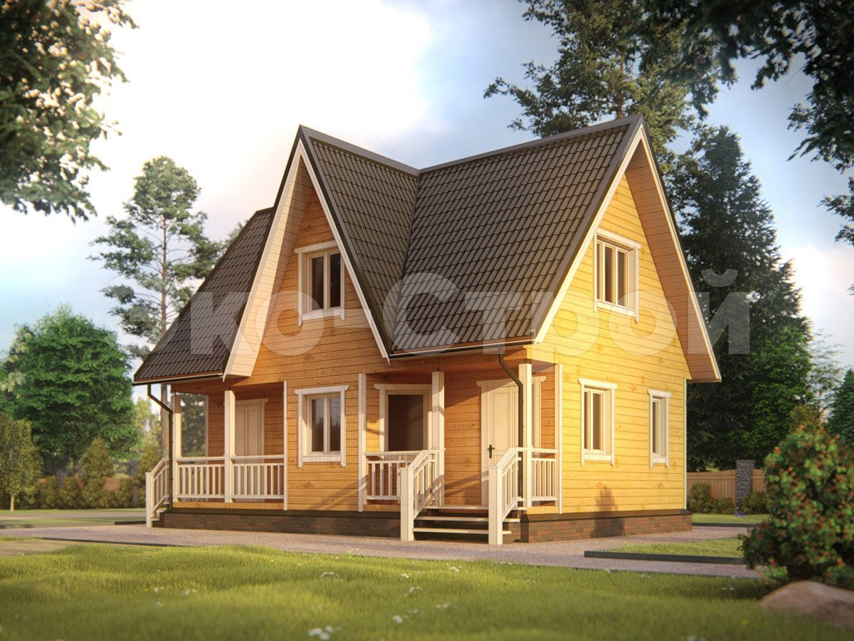 Дом из бруса ДУ 061