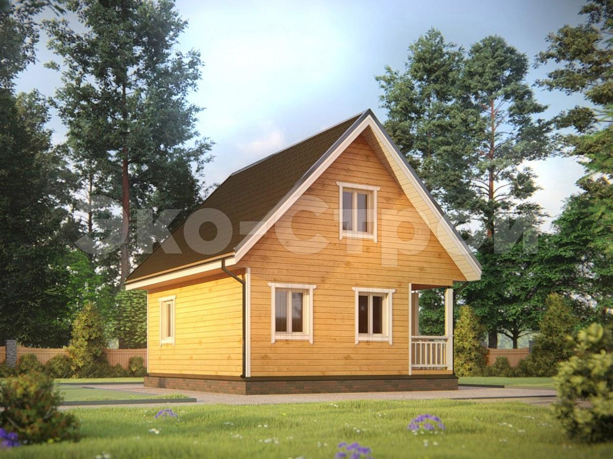 Дом из бруса ДУ 067 пол ключ