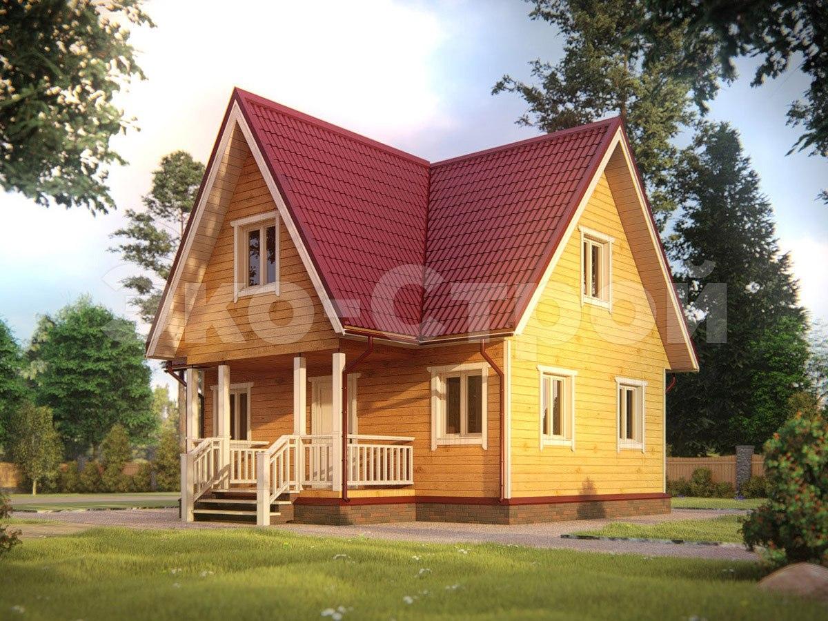 Дом из бруса ДУ 071