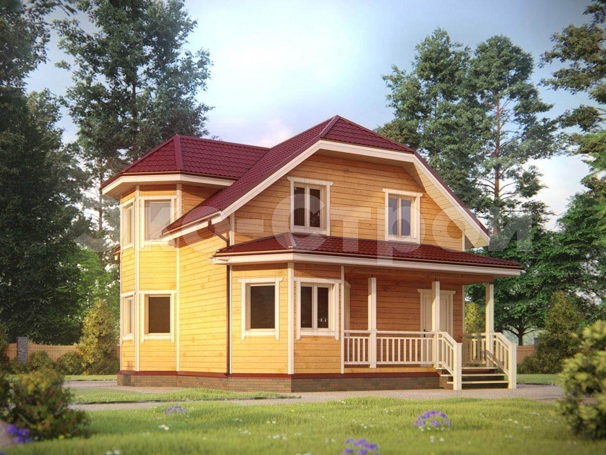 Дом из бруса ДУ 072