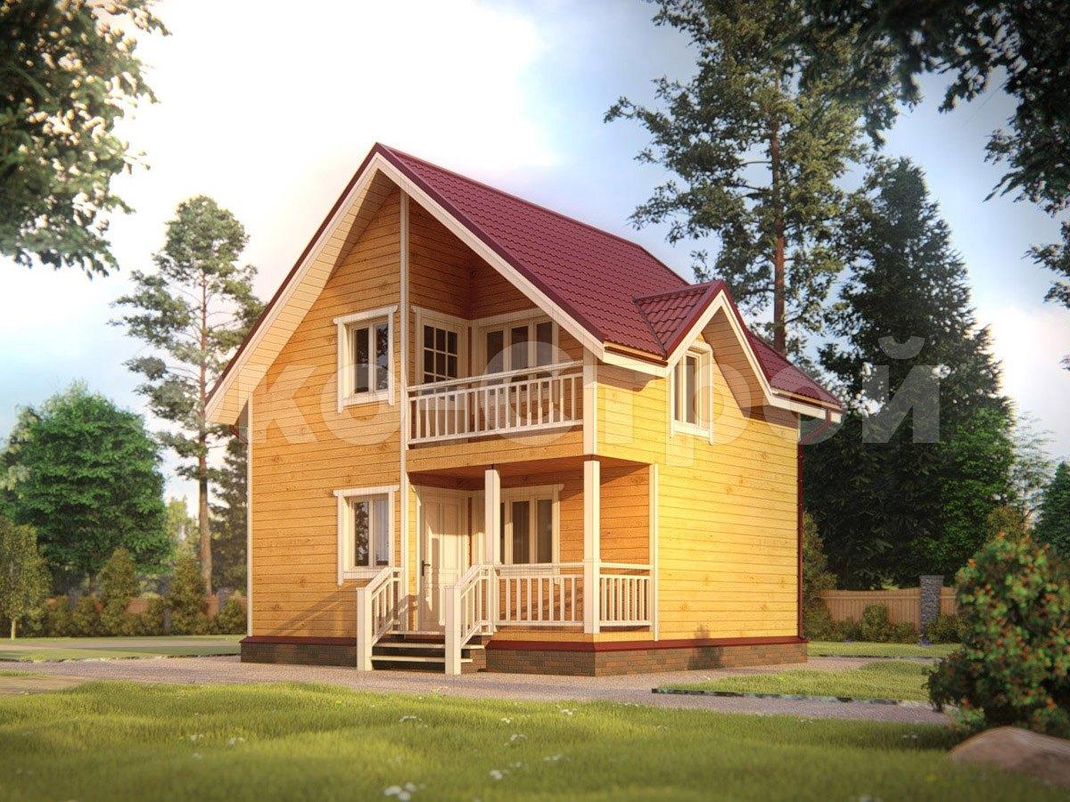 Дом из бруса ДУ 073