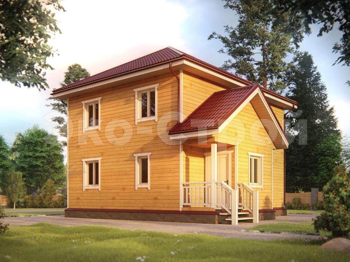 Дом из бруса ДУ 074