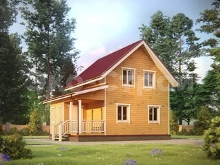 Дом из бруса ДУ 075