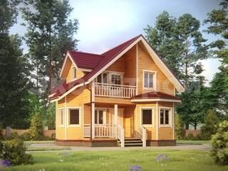 Дом из бруса ДУ 076