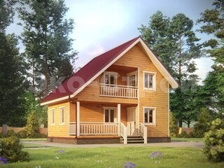 Дом из бруса ДУ 078