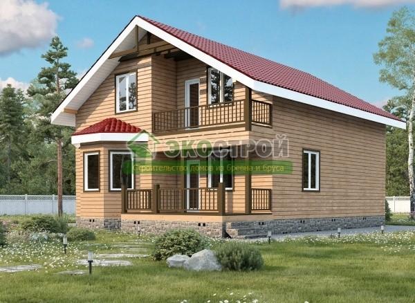 Дом из бруса ДУ 084