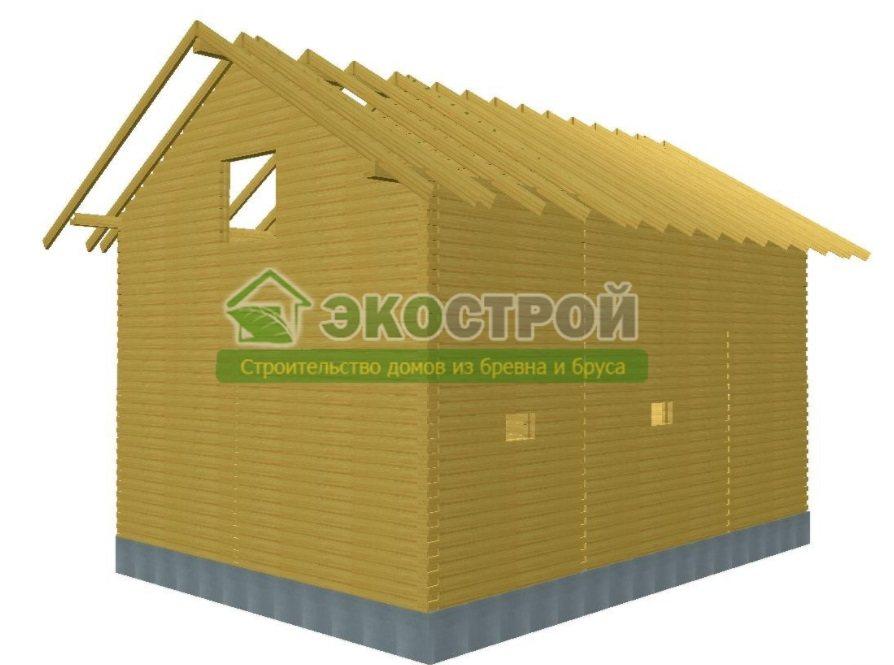 Дом из бруса ДУ 086 пробрусовка