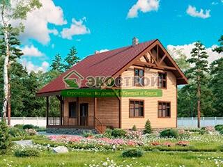 Дом из бруса ДУ 087