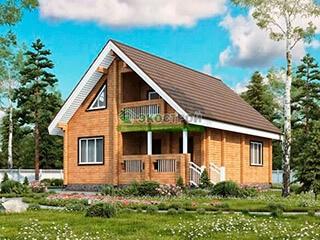 Дом из бруса ДУ 088