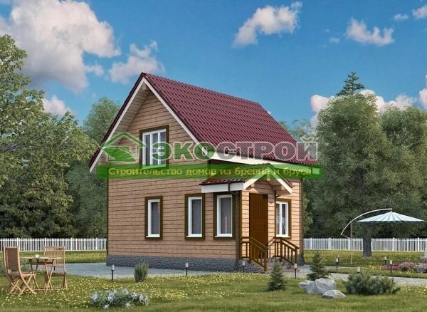 Дом из бруса ДУ 089