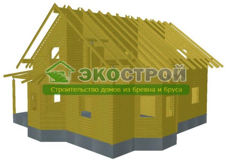 Дом из бруса ДУ 090 пробрусовка
