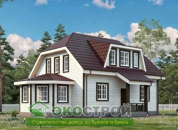Дом из бруса ДУ 091