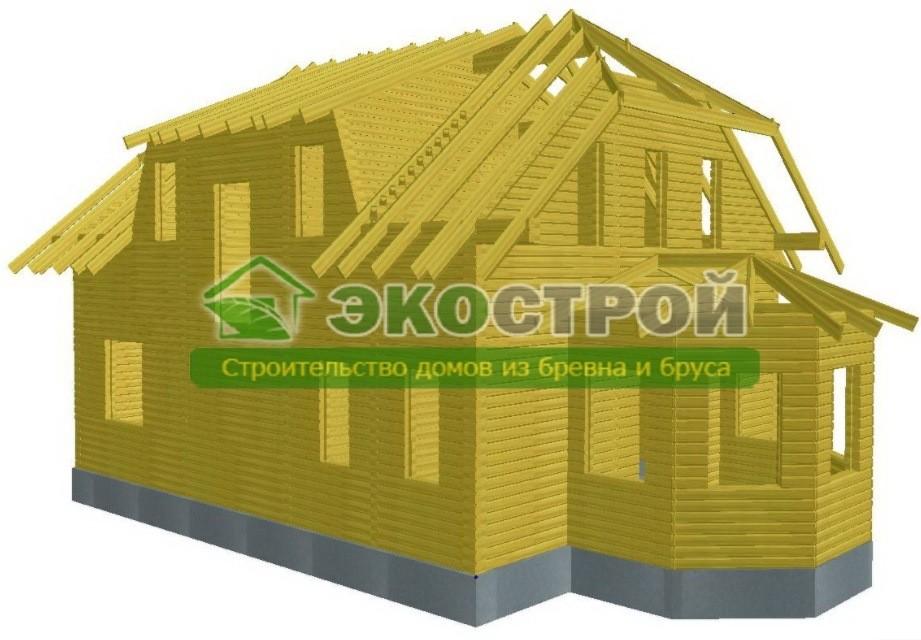 Дом из бруса ДУ 091 пробрусовка