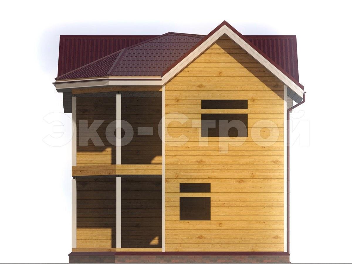 Дом из бруса ДУ 011 вид 4
