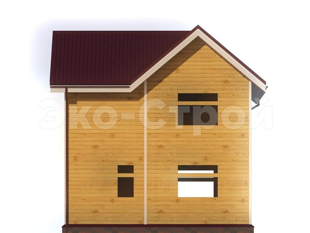 Дом из бруса ДУ 011 вид 3