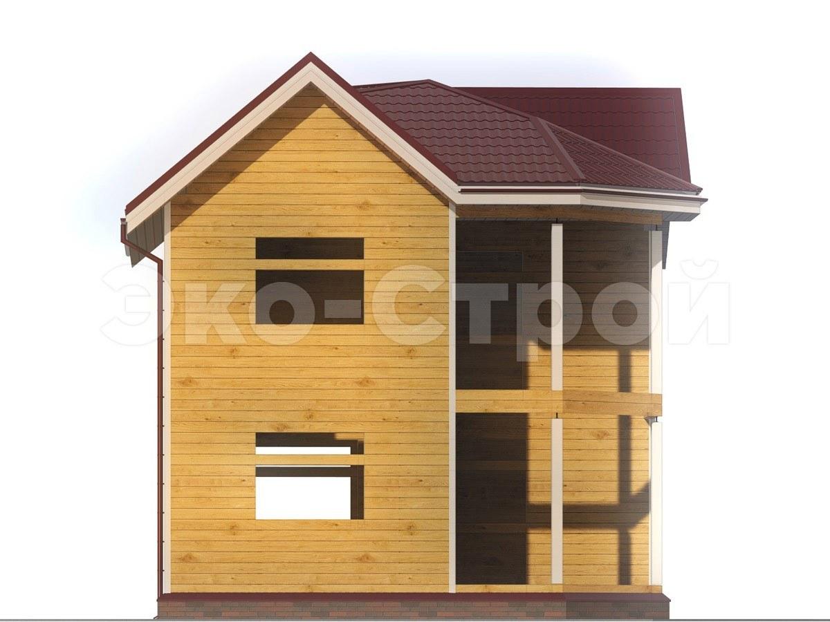 Дом из бруса ДУ 011 вид 1