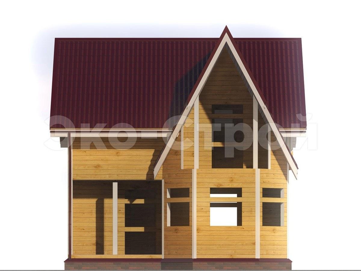 Дом из бруса ДУ 012 вид 4