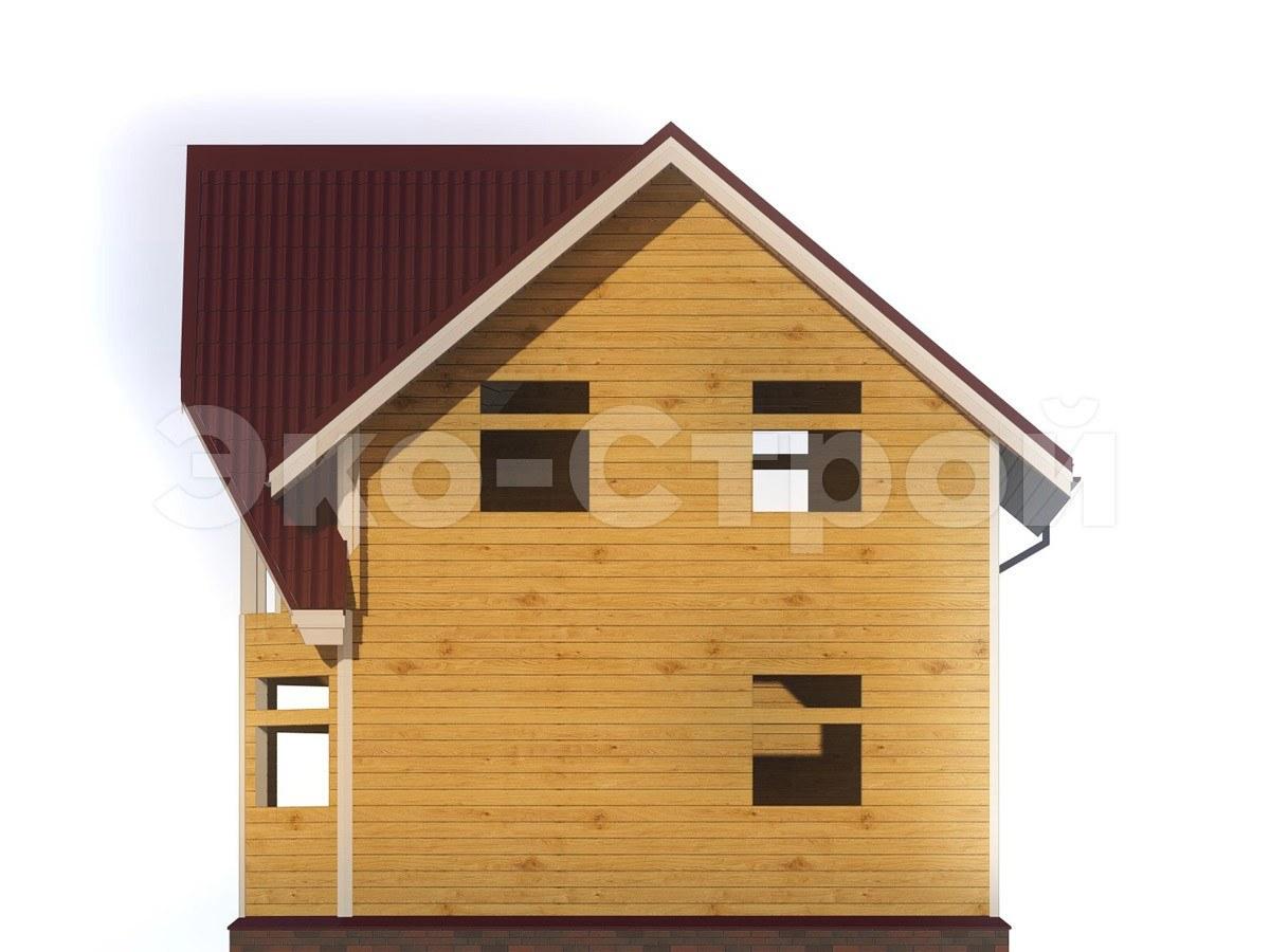 Дом из бруса ДУ 012 вид 3
