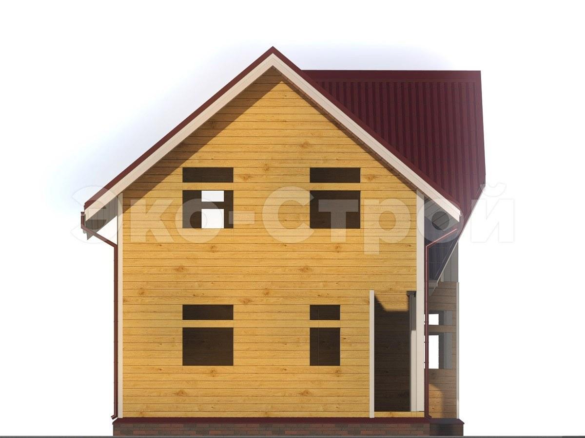 Дом из бруса ДУ 012 вид 1