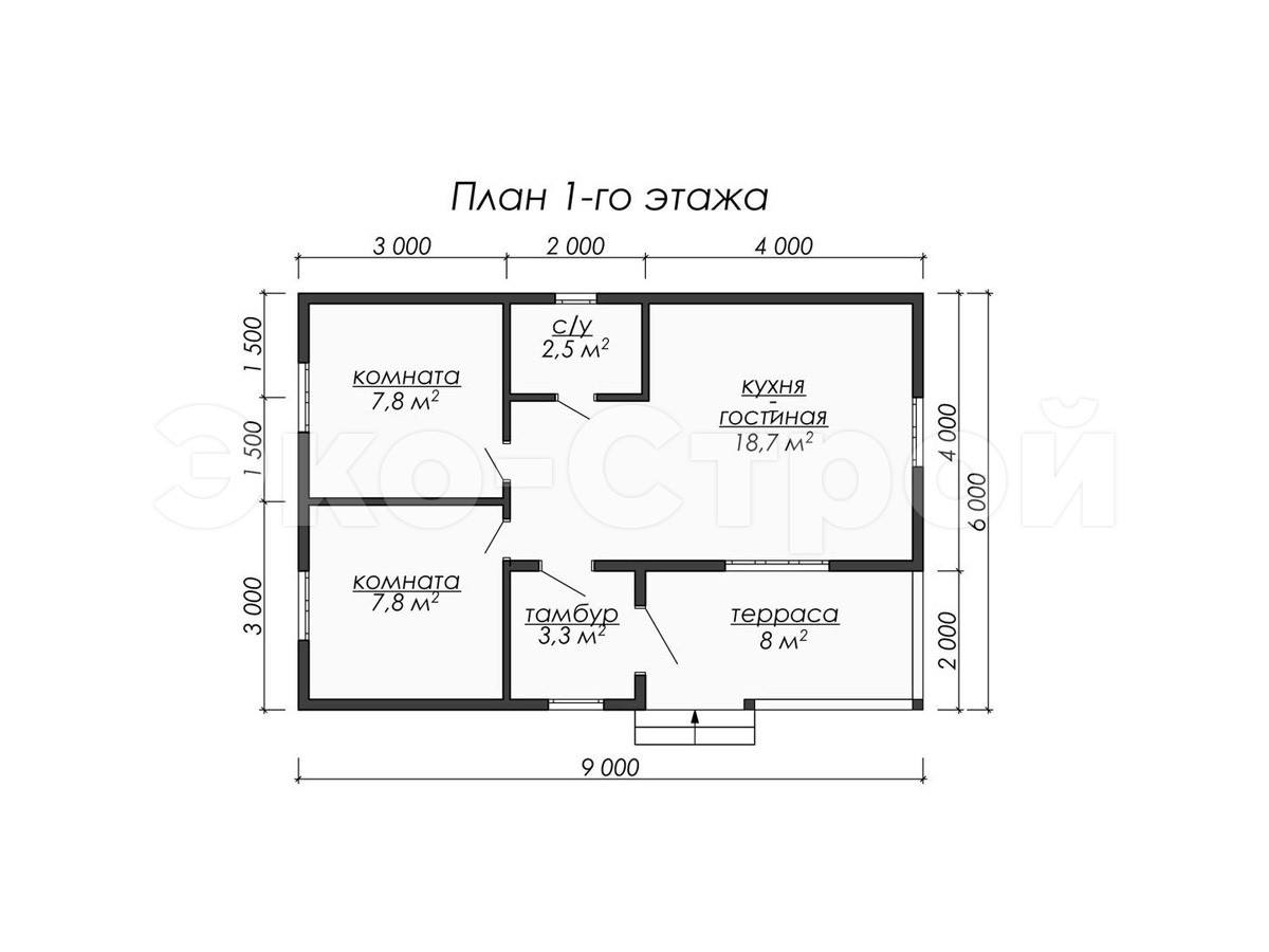 Дом из бруса ДУ 013 план