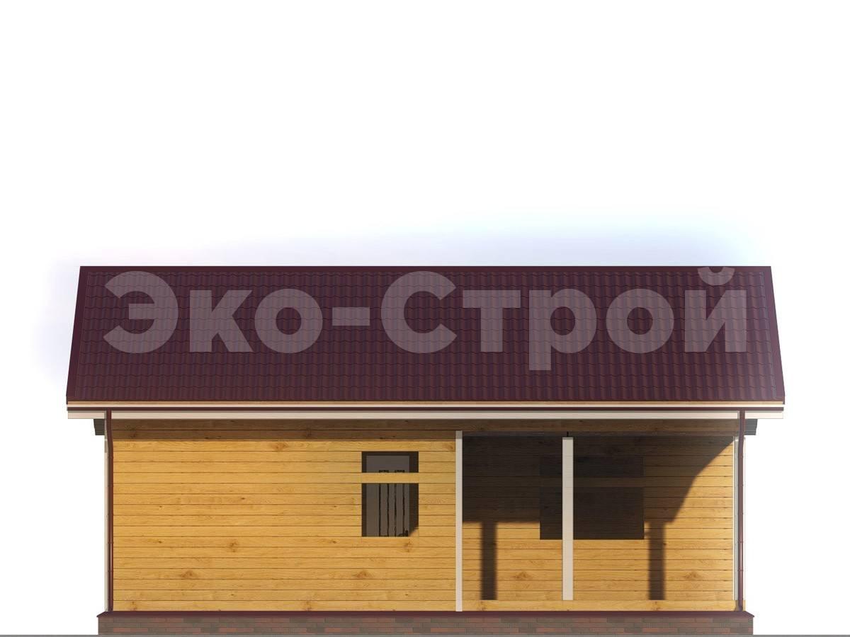 Дом из бруса ДУ 013 вид 2