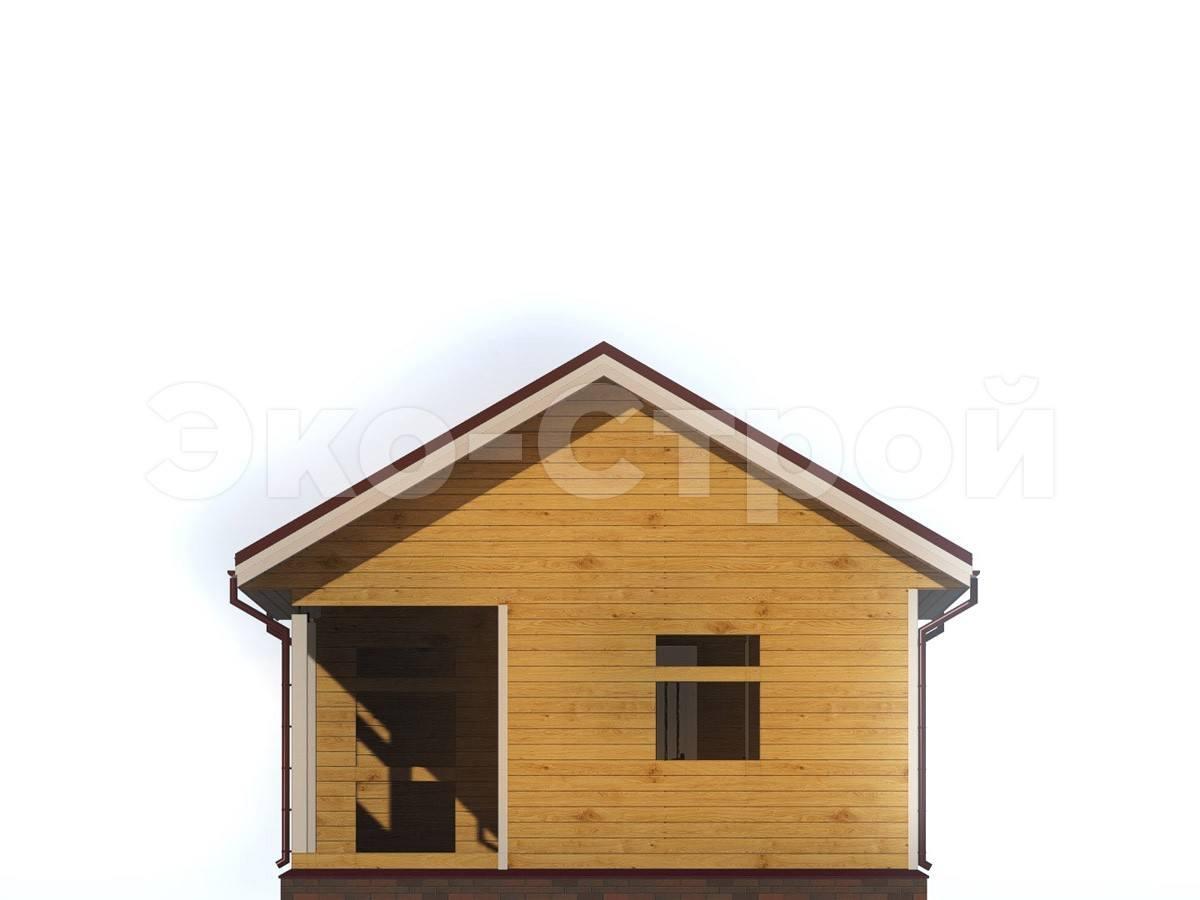 Дом из бруса ДУ 013 вид 3