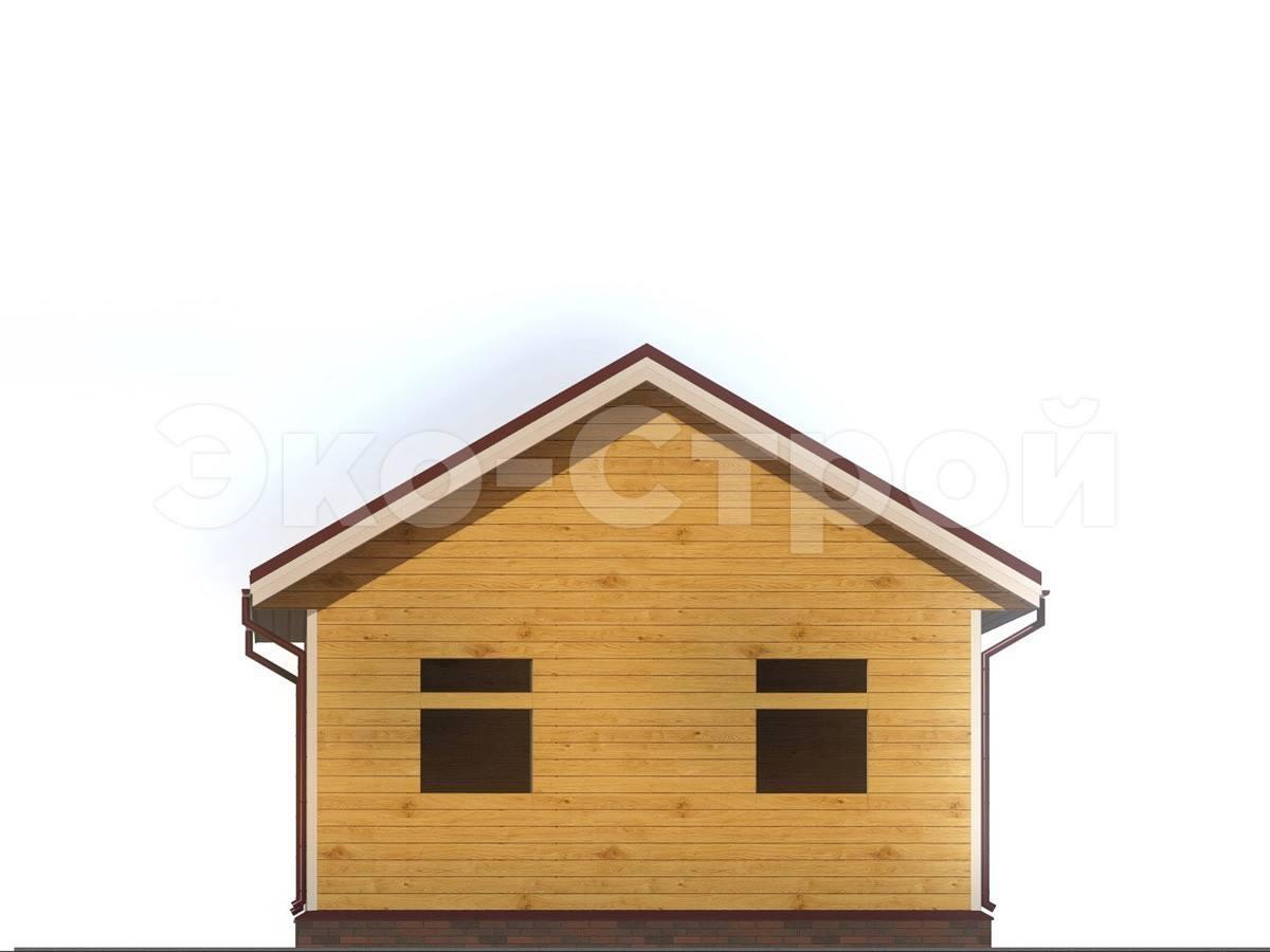 Дом из бруса ДУ 013 вид 1