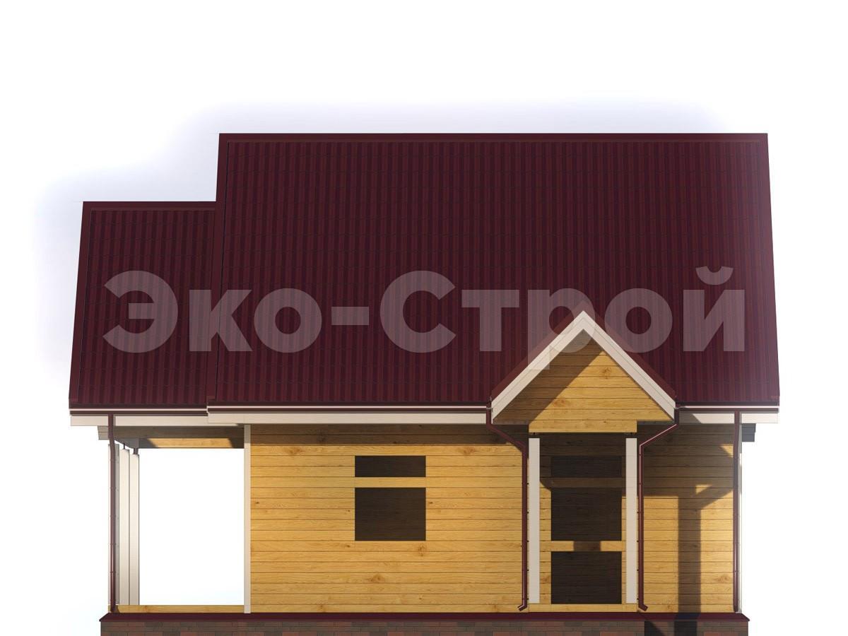 Дом из бруса ДУ 014 вид 3