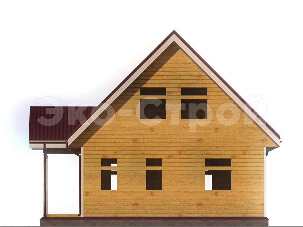 Дом из бруса ДУ 014 вид 2