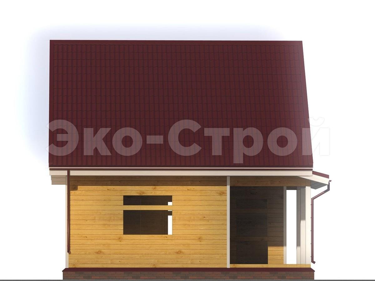 Дом из бруса ДУ 015 вид 1