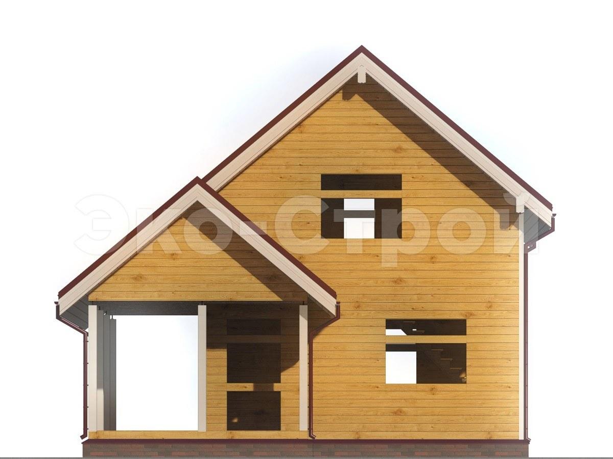 Дом из бруса ДУ 016 вид 4
