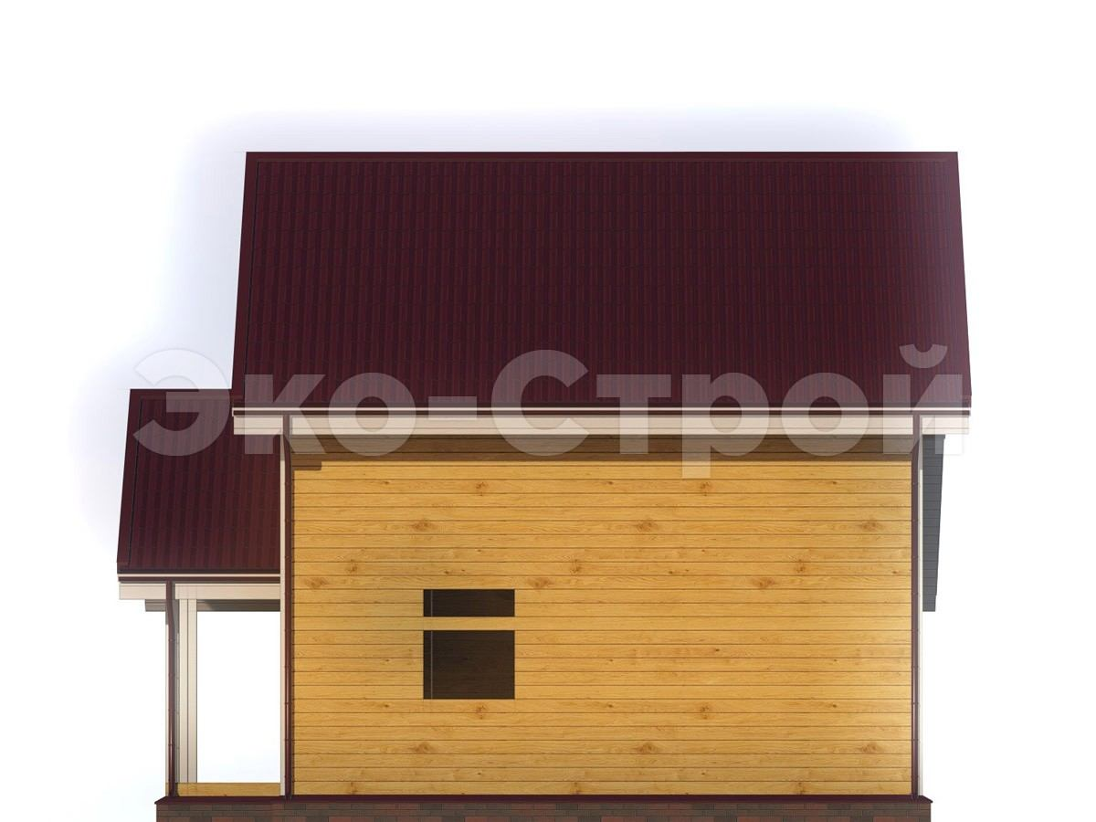 Дом из бруса ДУ 016 вид 3