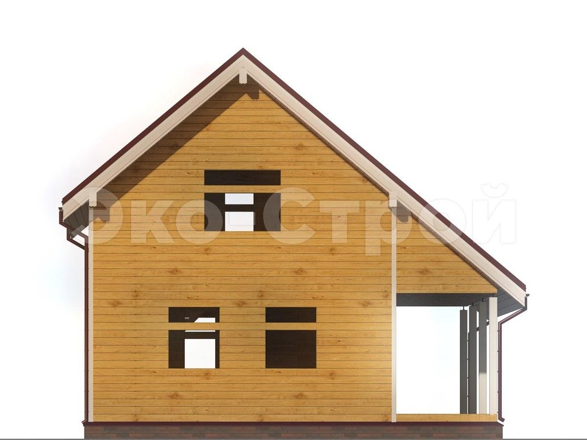 Дом из бруса ДУ 016 вид 2