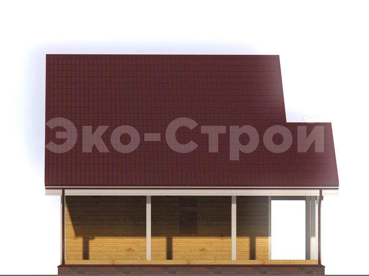 Дом из бруса ДУ 016 вид 1