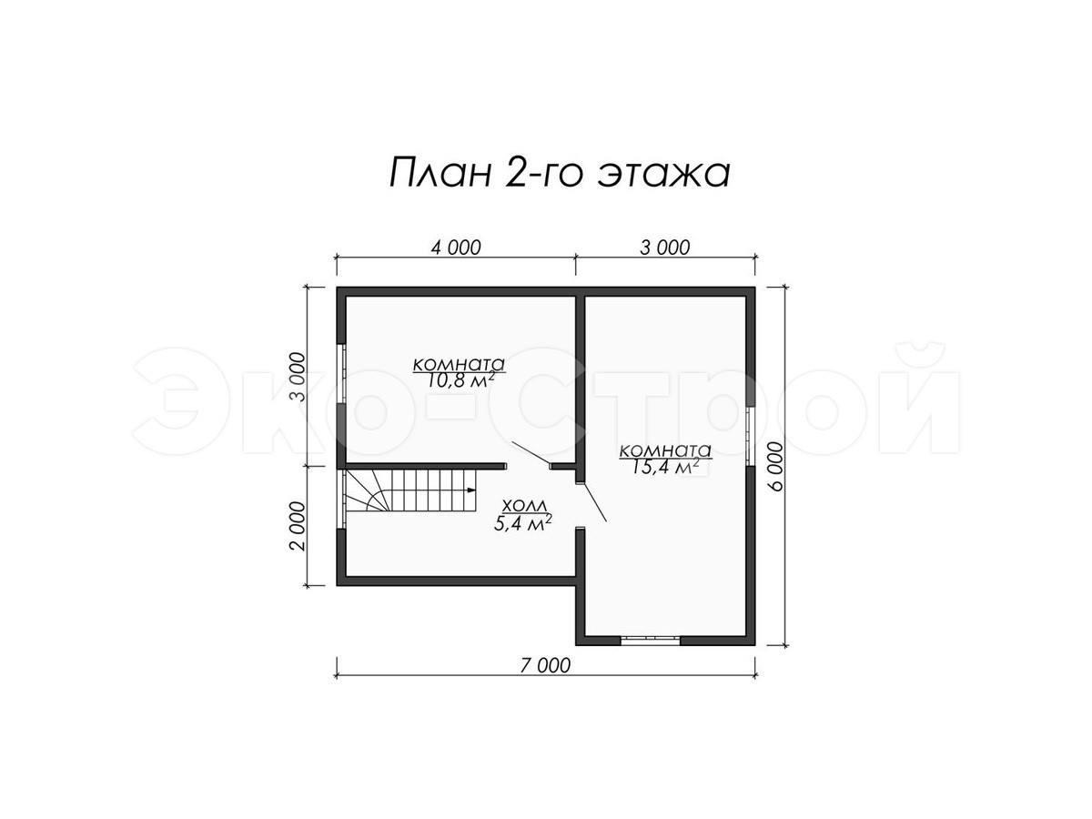Дом из бруса ДУ 017 план 2 эт