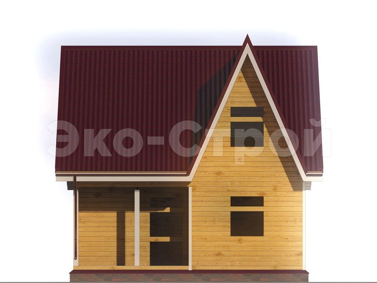 Дом из бруса ДУ 017 вид 4