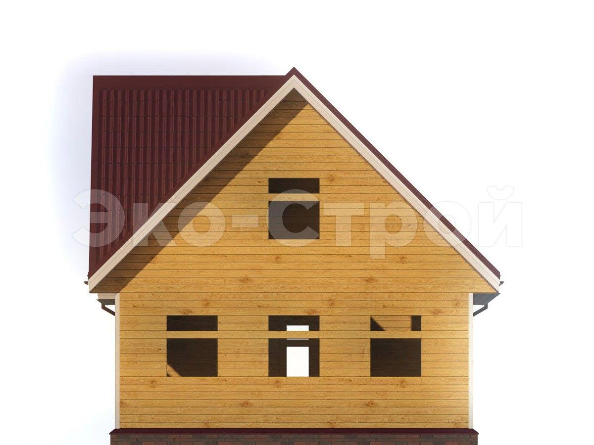 Дом из бруса ДУ 017 вид 3