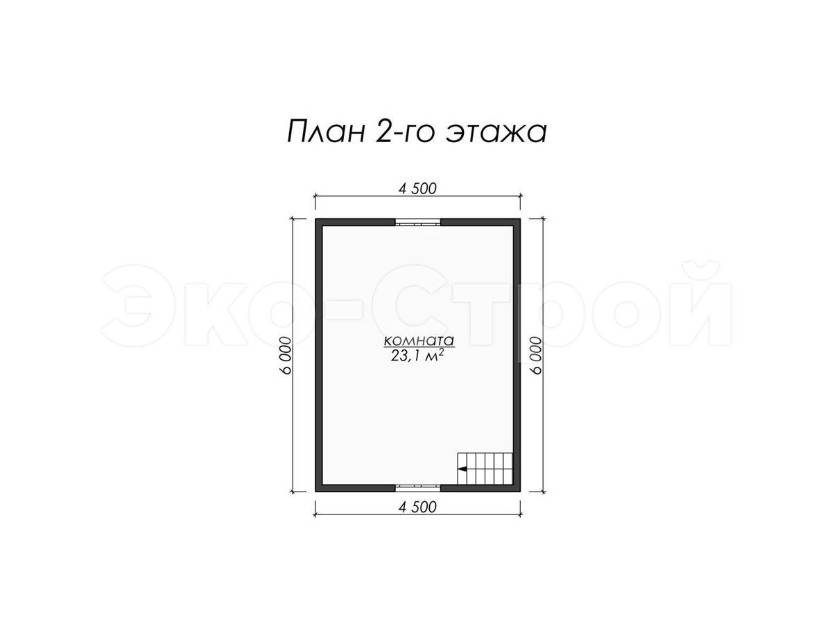 Дом из бруса ДУ 018 план 2 эт