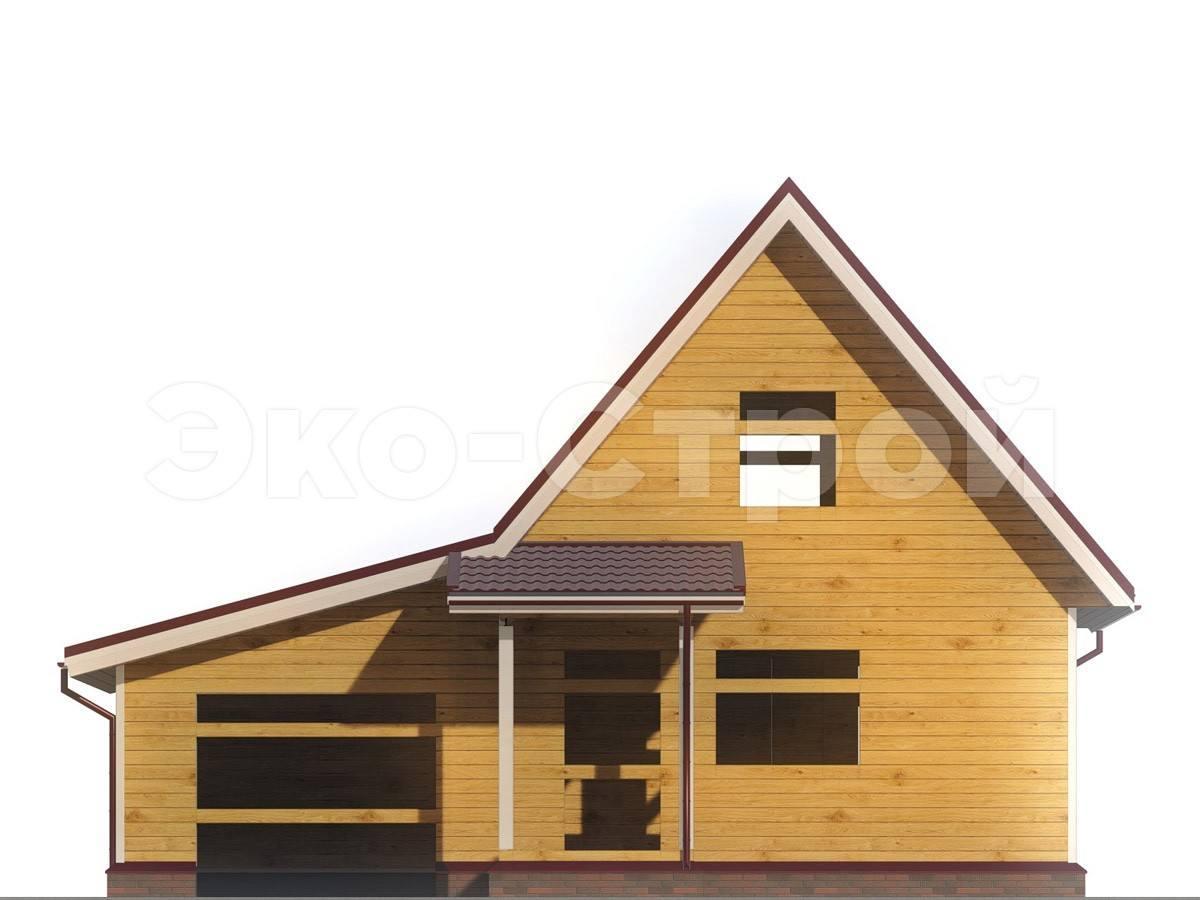 Дом из бруса ДУ 018 вид 4