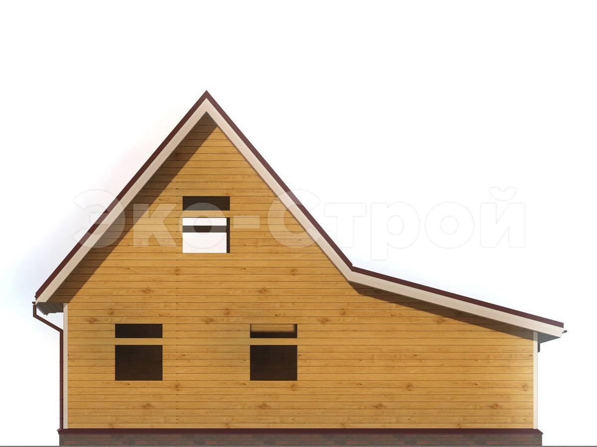 Дом из бруса ДУ 018 вид 2